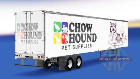 Скин Chow Hound на полуприцеп для American Truck Simulator