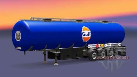 Скин Gulf на топливный полуприцеп для Euro Truck Simulator 2