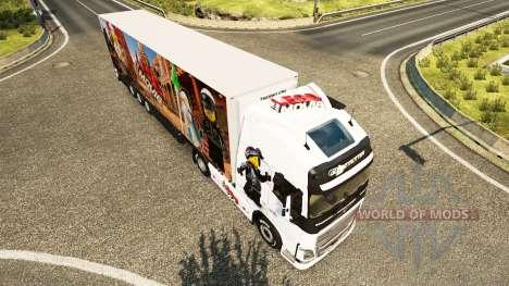 Скин The Lego на тягач Volvo для Euro Truck Simulator 2