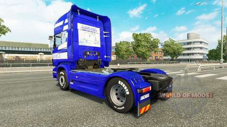 Скин T. van der Vijver на тягач Scania для Euro Truck Simulator 2
