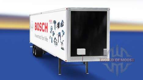 Скин Bosch на полуприцеп для American Truck Simulator