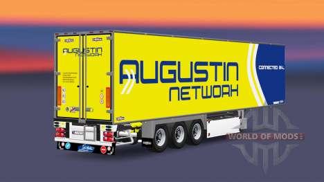 Полуприцеп-рефрижератор Chereau Augustin Network для Euro Truck Simulator 2