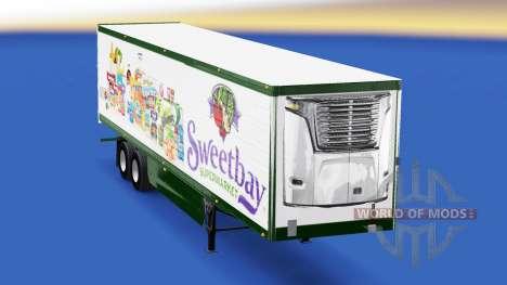 Скин Sweetbay Supermarket на полуприцеп для American Truck Simulator