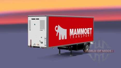 Полуприцеп-рефрижератор Krone Mammoet для Euro Truck Simulator 2