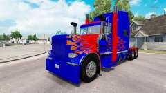 Скин Optimus Prime v2.1 на тягач Peterbilt 389