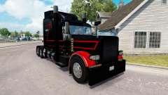 Скин Black & Red на тягач Peterbilt 389