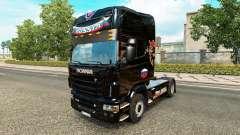 Скин Russia Black на тягач Scania