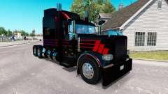 Скин Black SR на тягач Peterbilt 389