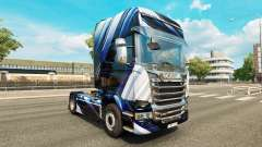 Скин Blue Stripes на тягач Scania