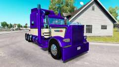 Скин Metallic Purple на тягач Peterbilt 389