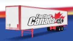 Скин Football Canada на полуприцеп