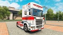 Скин White-red на тягач Scania