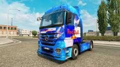 Скин Red Bull на тягач Mercedes-Benz