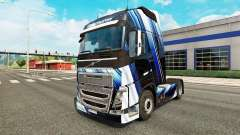 Скин Blue Stripes на тягач Volvo