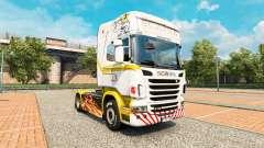 Скин White gold на тягач Scania