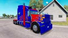 Скин Optimus Prime v2.0 на тягач Peterbilt 389