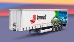 Скин Jamef Logistic на шторный полуприцеп