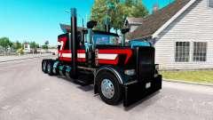Скин Metallic Black на тягач Peterbilt 389