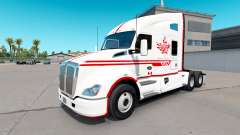 Скин Canadian Express White на тягач Kenworth