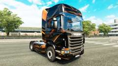 Скин Matte Orange на тягач Scania
