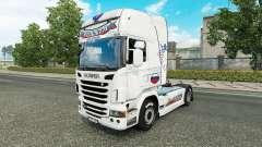 Скин Russia White на тягач Scania