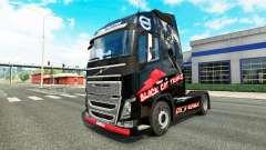Скин Black Cat Trans на тягач Volvo