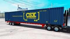 Полуприцеп контейнеровоз CSX Intermodal