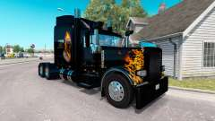 Скин Ghost Rider v2.0 на тягач Peterbilt 389