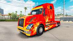Скин Fire на тягач Volvo VNL 670