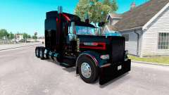 Скин Black Metallic Stripes на Peterbilt 389