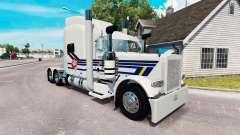 Скин Burton Trucking на тягач Peterbilt 389