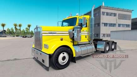 Скин Smooth Yellow на тягач Kenworth W900 для American Truck Simulator