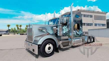 Скин Viking на тягач Kenworth W900 для American Truck Simulator
