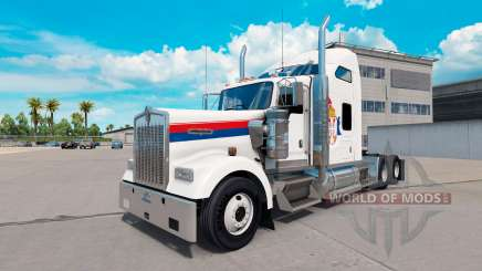 Скин Serbia на тягач Kenworth W900 для American Truck Simulator