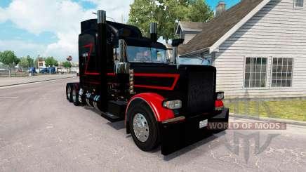 Скин Black & Red на тягач Peterbilt 389 для American Truck Simulator