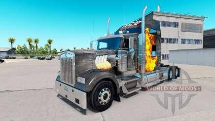 Скин Mad Max на тягач Kenworth W900 для American Truck Simulator