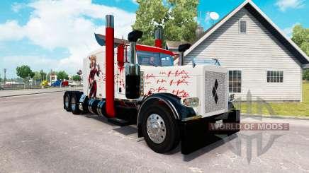 Скин Harley Quin на тягач Peterbilt 389 для American Truck Simulator