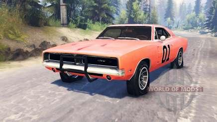 Dodge Charger 1969 General Lee для Spin Tires