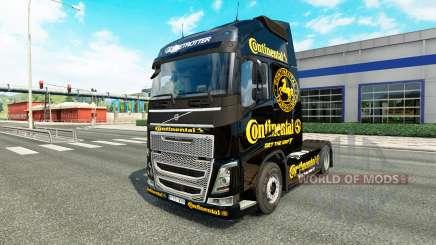 Скин Continental на тягач Volvo для Euro Truck Simulator 2