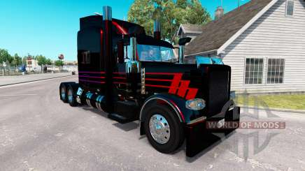 Скин Black SR на тягач Peterbilt 389 для American Truck Simulator