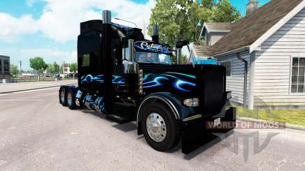 Скин Bluesway на тягач Peterbilt 389 для American Truck Simulator