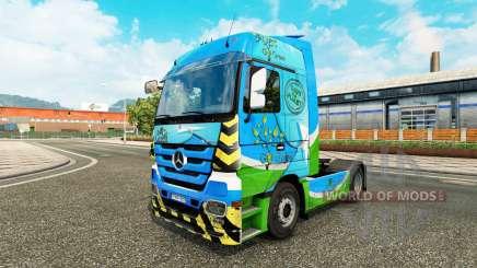 Скин Go Green на тягач Mercedes-Benz для Euro Truck Simulator 2