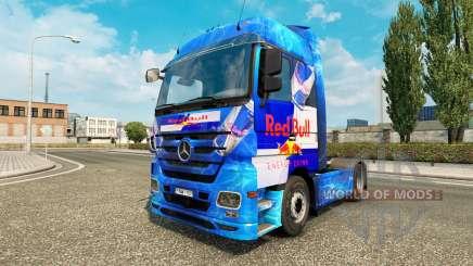 Скин Red Bull на тягач Mercedes-Benz для Euro Truck Simulator 2