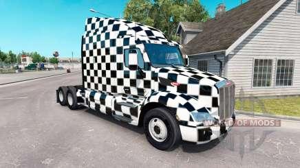 Скин Checkered на тягач Peterbilt для American Truck Simulator