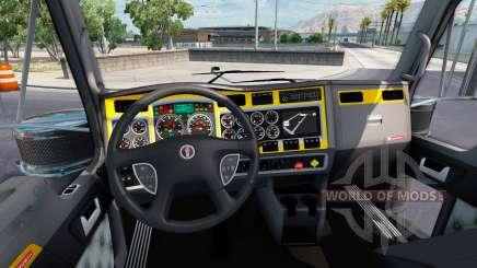 Интерьер Yellow-gray для Kenworth W900 для American Truck Simulator