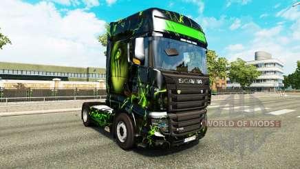 Скин Monster на тягач Scania R700 для Euro Truck Simulator 2