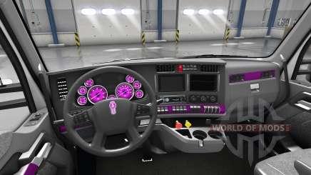 Интерьер Pink Dial для Kenworth T680 для American Truck Simulator