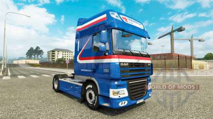 Скин H.Z. Transport на тягач DAF для Euro Truck Simulator 2