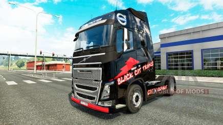 Скин Black Cat Trans на тягач Volvo для Euro Truck Simulator 2