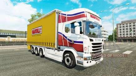 Скин Hakull на тягач Scania Tandem для Euro Truck Simulator 2